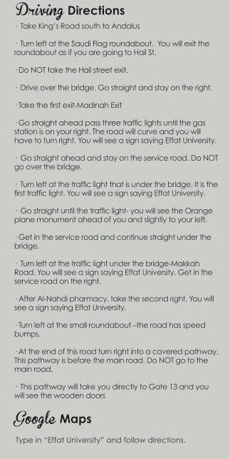 Driving directions English